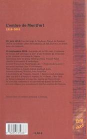 L'ombre de Montfort - 4ème de couverture - Format classique
