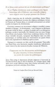 La véritable histoire de Jésus ; une enquête scientifique et historique sur l'homme et sa lignée - 4ème de couverture - Format classique