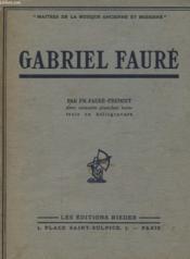 Gabriel Faure - Couverture - Format classique