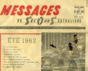 Messages Du Secours Catholique, N° 121, Juillet-Aout 1962 - Couverture - Format classique