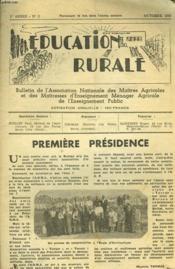 Education Rurale. N°2, Octobre 1947. Bulletin De L'Association Nationale Des Maitres Agricoles Et Des Maitresses D'Enseignement Menager Agricole. - Couverture - Format classique