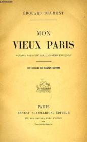 Mon Vieux Paris - Couverture - Format classique