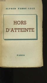Hors D'Atteinte. - Couverture - Format classique
