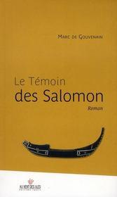 Le témoin des Salomon - Intérieur - Format classique