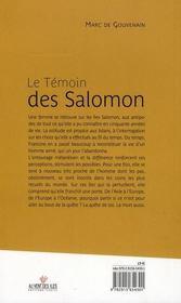 Le témoin des Salomon - 4ème de couverture - Format classique