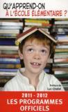 Qu'apprend-on à l'école élémentaire (édition 2011/2012)