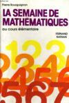 La Semaine De Mathematiques Au Cours Elementaire