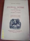 Journal intime, précédé du Cahier rouge et d'Adolphe.