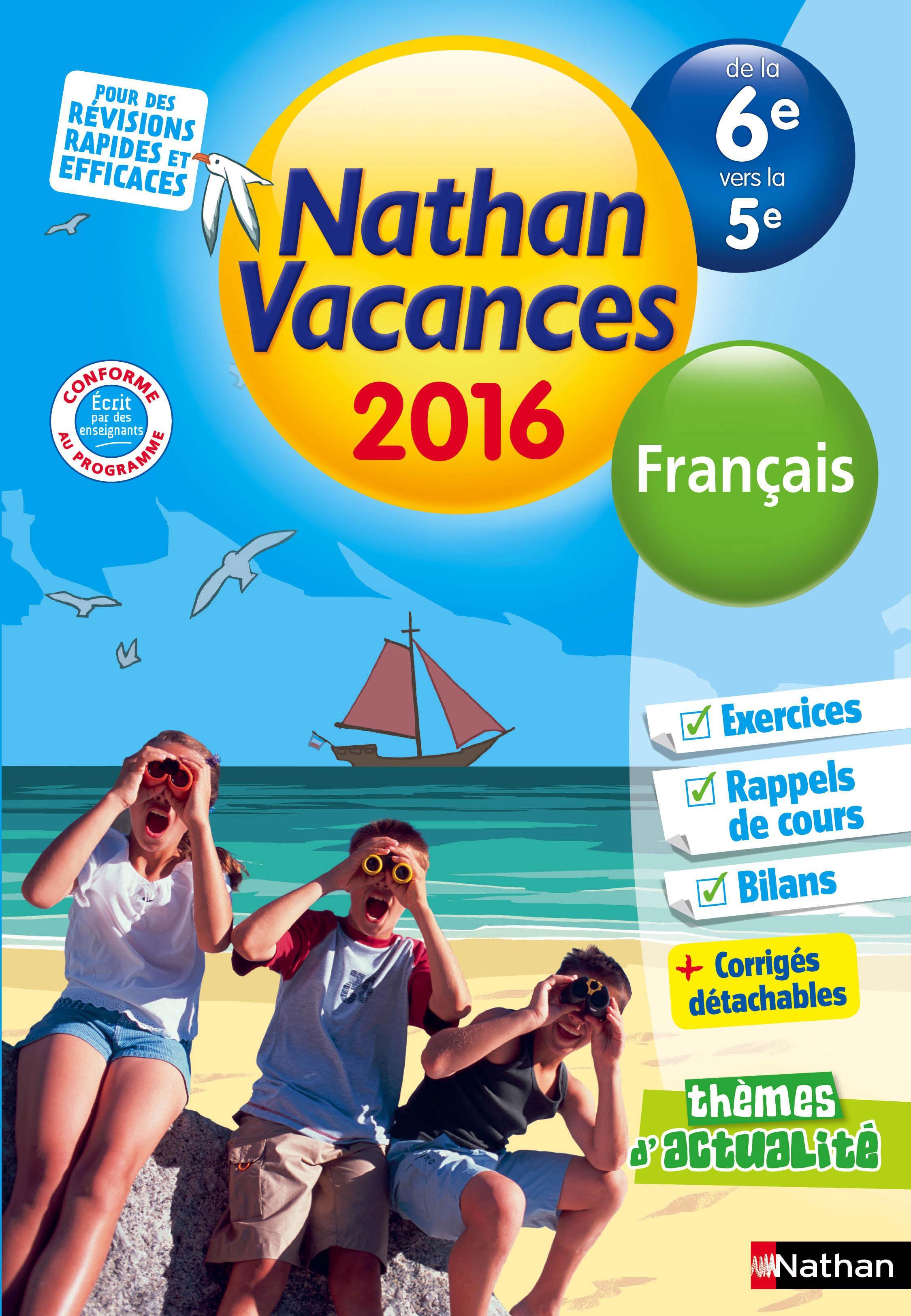 Cahier De Vacances 2016 College Monomatiere Francais 6e 5e