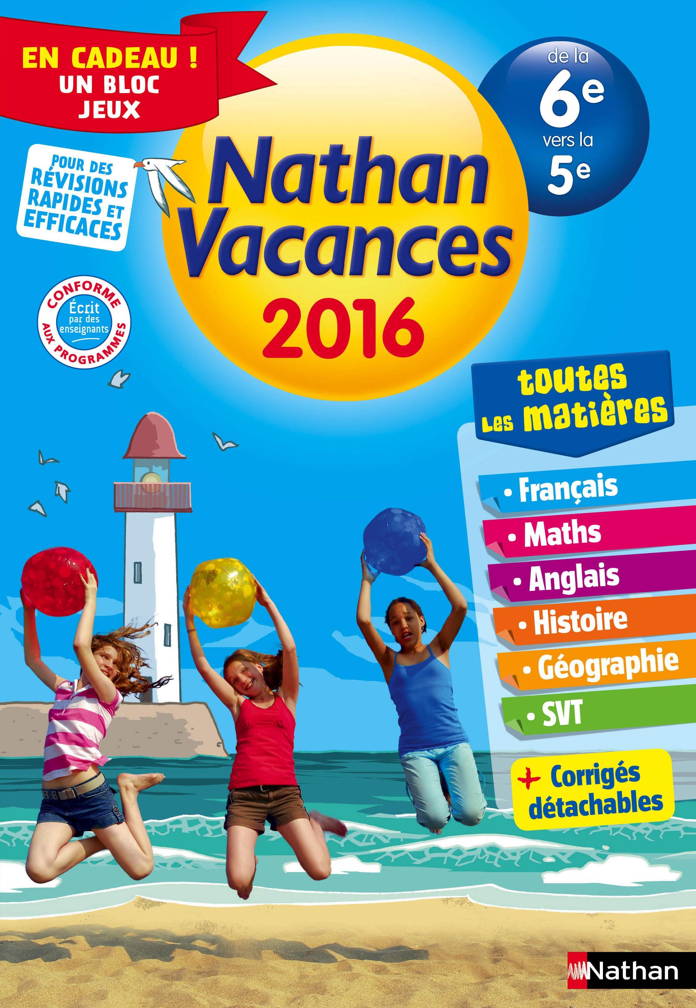 Nathan Vacances De La 6eme Vers La 5eme Toutes Les