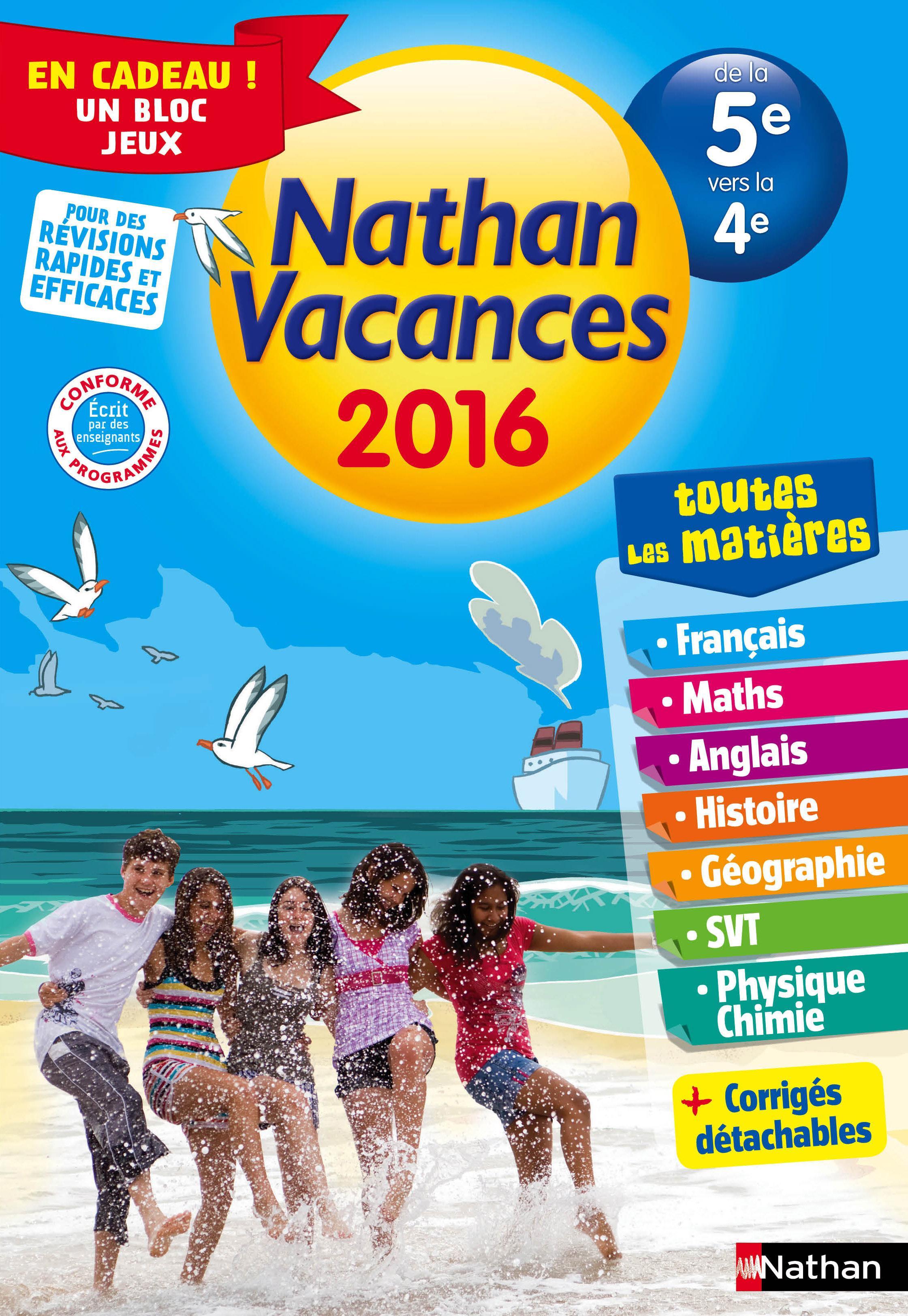 Nathan Vacances De La 5eme Vers La 4eme Toutes Les