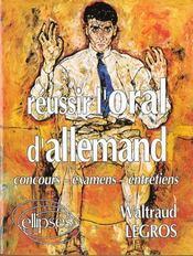 Reussir L'Oral D'Allemand Concours-Examens-Entretiens - Intérieur - Format classique
