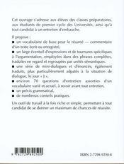 Reussir L'Oral D'Allemand Concours-Examens-Entretiens - 4ème de couverture - Format classique
