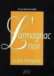 L'armagnac noir - Couverture - Format classique