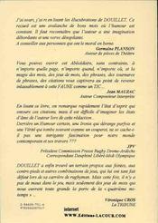 Faune et tiques de la langue francaise - 4ème de couverture - Format classique