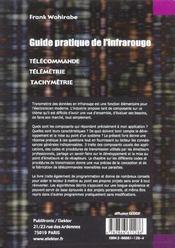 Guide pratique de l'infrarouge. telecommandes, telemetrie, tachymetrie - 4ème de couverture - Format classique