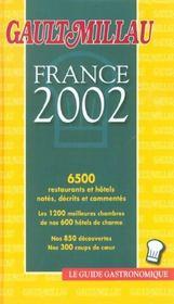 Guide Gault Et Millau France ; Edition 2002 - Intérieur - Format classique