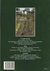 Mon jardin sauvage, fleuri et productif - 4ème de couverture - Format classique