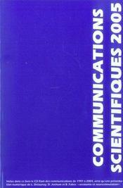 Communications scientifiques mapar 2005 - Intérieur - Format classique