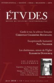 Revue Etudes - Couverture - Format classique