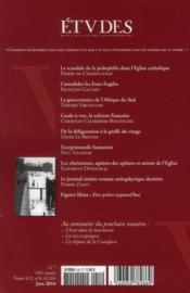 Revue Etudes - 4ème de couverture - Format classique