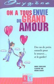 On A Tous Envie Du Grand Amour - Intérieur - Format classique