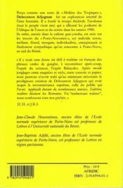 Mari lubrique ; asu gbigbléto - 4ème de couverture - Format classique