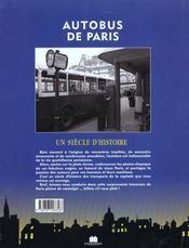 Autobus de paris - 4ème de couverture - Format classique
