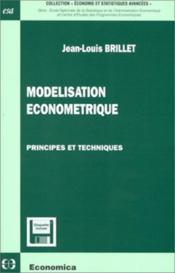 Modelisation econometrique - Couverture - Format classique