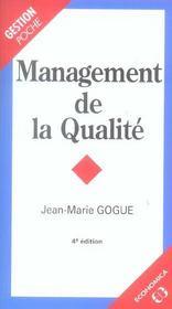 Management De La Qualite - Intérieur - Format classique