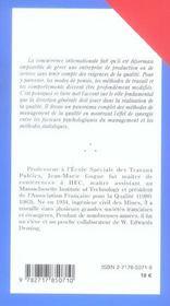 Management De La Qualite - 4ème de couverture - Format classique