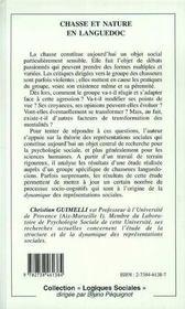 Chasse Et Naure En Languedoc - 4ème de couverture - Format classique