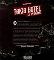 Tokio Hotel, le tsunami - 4ème de couverture - Format classique