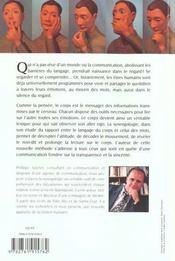 La Synergologie Pour Comprendre Son Interlocuteur A Travers Sa Gestuelle - 4ème de couverture - Format classique