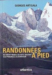 Randonnées à pied ; du mont perdu au pays basque ; les pyrenées du bonheur - Couverture - Format classique