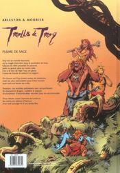 Trolls de Troy T.7 ; plume de sage - 4ème de couverture - Format classique