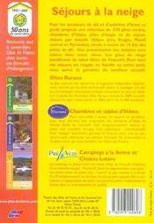 Sejours A La Neige - 4ème de couverture - Format classique