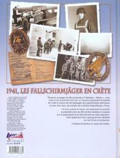 Les Fallschirmjager en Crête - 4ème de couverture - Format classique
