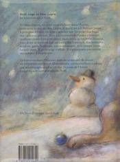 Petit ange et pere lapin ; 24 histoires pour noel - 4ème de couverture - Format classique