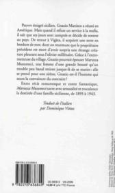 Maruzza Musumeci - 4ème de couverture - Format classique