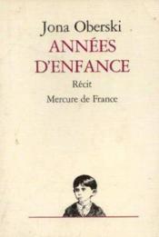 Annees D'Enfance - Couverture - Format classique