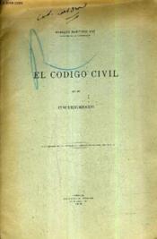 El Codigo Civil En Su Cincuentenario (Plaquette). - Couverture - Format classique