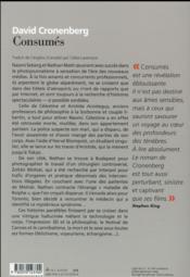 Consumés - 4ème de couverture - Format classique
