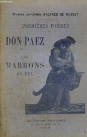 Don Paez - Les Marrons Du Feu - Premieres Poesies - Couverture - Format classique