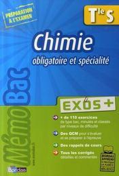 Chimie ; terminale S ; enseignement obligatoire et spécialité - Intérieur - Format classique