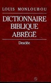 Dictionnaire biblique abrege - Couverture - Format classique