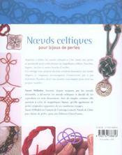 Noeuds celtiques pour bijoux de perles - 4ème de couverture - Format classique