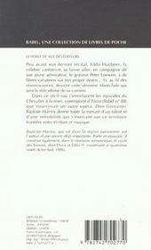 Edda h. ou la derniere marechale suivi de : il bacio di tosca babel 138 - 4ème de couverture - Format classique