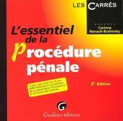 Essentiel de la procedure penale - Intérieur - Format classique