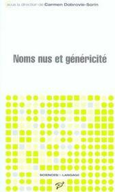 Noms nus et généricité - Intérieur - Format classique